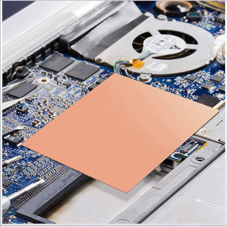 ,100x200x1mm 3PCS GYZD Kupferbleche Kupferplatte Kupferfolie Im Zuschnitt 100Mm X 200Mm X 0.8Mm