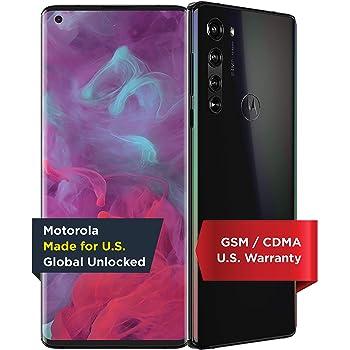 Motorola Edge | Unlocked | Made for US by Motorola | 6/256GB | 64MP Camera | 2020 | Solar Black