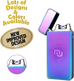 Novelty Wares USB Flameless Plasma Dual Arc Rechargeable Windproof Cigarette Lighter Charging Cable Gift Box