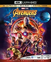 Avengers Infinity War 4K Ultra HD + Blu Ray + Digital Code [Blu-ray] with no outer sleeve (O-Sleeve)