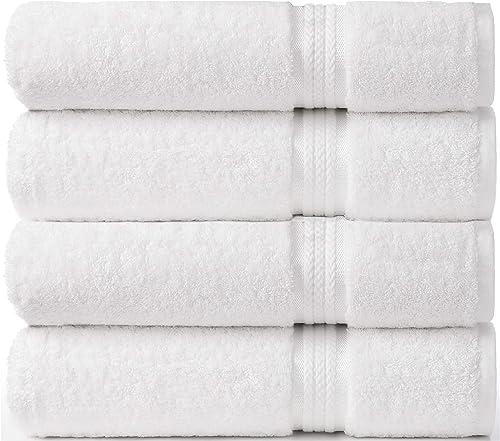 Cotton Craft–Colección de toallas ultra suaves–Lujo puro, algodón de 650 g con banda de rayón–Cuidado fácil, la...