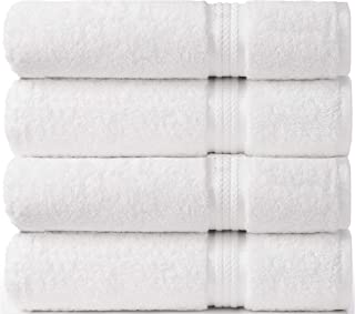 COTTON CRAFT Ultra Soft 4 Pack Oversized Extra Large Bath Towels 30x54 White Weighs 22 Ounces - 100% Pure Ringspun Cotton ...