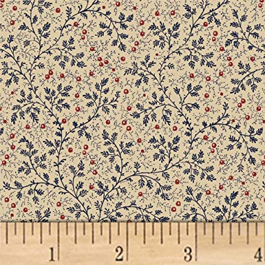 Windham Fabrics Berry Vine 108'' Wide Back Fabric, Navy, Quilt Fabric By The Yard