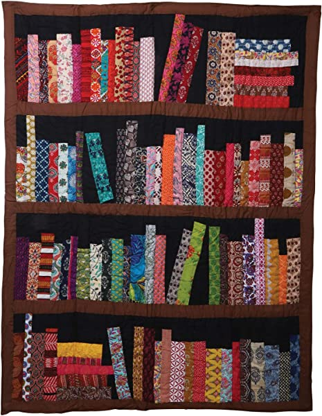 ART ARTIFACT Library Books Quilted Throw Blanket 100 Cotton 50 X 65