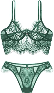 Sexy Lingerie for Women, Lace Lingerie, Underwear, Bra, Lace Bralette And Panty Set