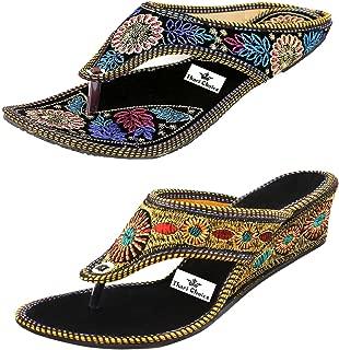 Thari Choice Women's Wedges Sandal(Pair of 2)
