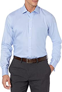 Buttoned Down Mens Slim-fit French Cuff Micro Twill Non-Iron Dress Shirt