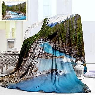 "Fluffy Blanket for Baby Girl or Boy, Kicking Horse Fantastic River in Yoho Fluffy National Park Canada Flannel Blanket Soft Cozy for Baby or Infant, Baby Blanket 40"" x 30"""