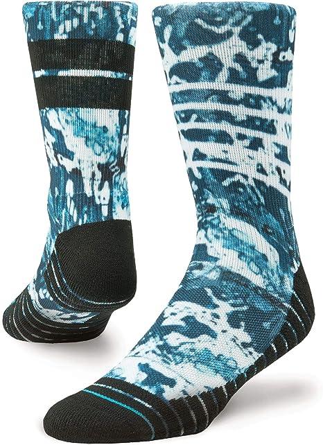 Stance Socks Ic/ône Crew Chaussettes Hommes en Gris Avec Advanced Moisture Management//Respirante Performance Mesh//Anatomical Amortissants et Transparente Fermeture Toe