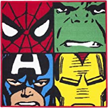Marvel Comics Defenders Carpet Rug Mat Spiderman Hulk Captain America Iron Man