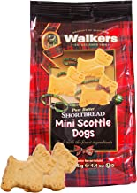 Walkers Shortbread Mini Scottie Dogs, Traditional Pure Butter Shortbread Cookies, 4.4 Ounce Boxes (6 Bags)