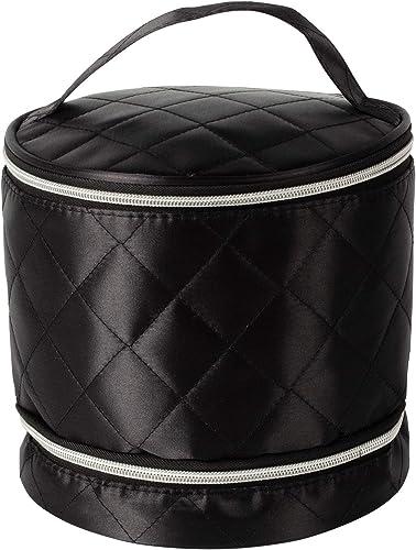 lowest Estelle Wig high quality Travel Case Zippered Storage w/Accessory new arrival Pocket, Black, Standard outlet online sale