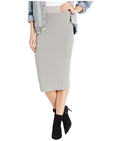Hard Tail Midi Pencil Skirt (Nickel) Women