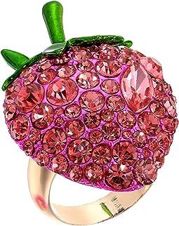 Betsey Johnson Bright Pink Strawberry Ring