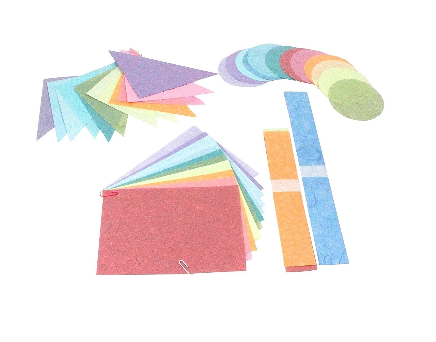 DMD Paperbilities Geometric Shapes, Pastel Colors - 180 pieces