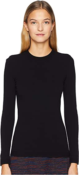 Geo Flat Knit Long Sleeve Top