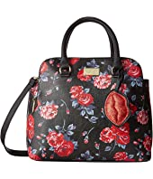 Luv Betsey - Keaton PVC Mid Size Double Compartment Satchel