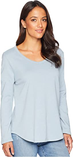 Bowery Burnout Soft Fleece Long Sleeve V Tee