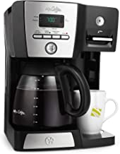 Mr. Coffee BVMC-DMX85-RB 12-cup Programmable Coffeemaker Coffee Maker, 16-Ounce, Black/Chrome