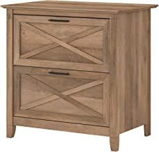 Bush Furniture Key West 2 Drawer Lateral File Cabinet, Reclaimed Pine