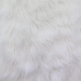 Faux Fur Luxury Shag White 60 Inch Wide Fabric by The Yard (F.E.