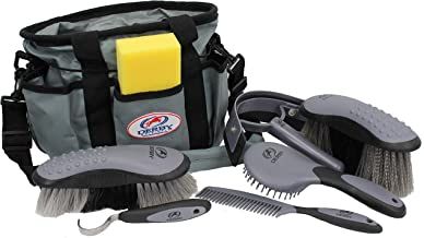 Derby Originals Premium Ringside 8 Item Horse Grooming Kits - Available in Eight Colors 91-7039-GRY