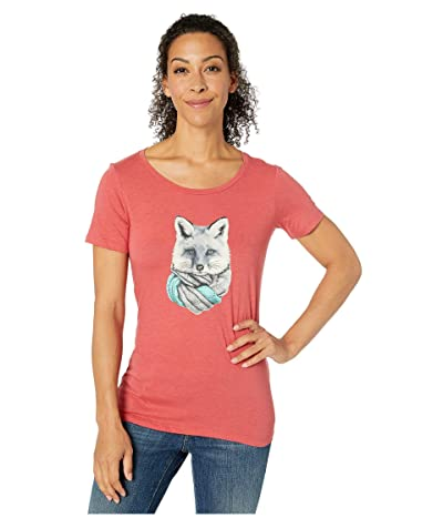 Columbia Outer Boundstm Short Sleeve Tee (Daredevil Heather/Little Foxy) Women