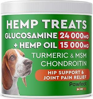 PawfectChew Hemp + Glucosamine Treats for Dogs - Made in...