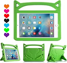 "Lmaytech iPad 9.7 2018 & 2017 Release/iPad Air Case, Light Weight Shock Proof Handle Stand Case Cover Kids Friendly for Apple iPad 9.7"" (6th Gen, 5th Gen) / iPad Air iPad Case Green"