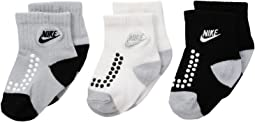 Nike Kids - 3-Pair Pack Futura Gripper Socks (Infant/Toddler)