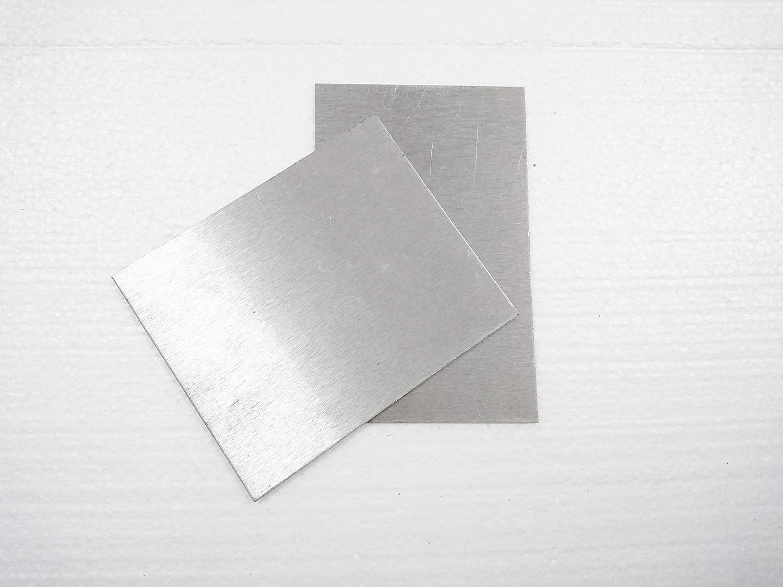 Light Metal Plates Magnesium Alloy Magnesium Foil Sheet AZ31B 0.011 Ultra-Thin 0.3mm/×100mm/×100mm-3pcs Magnesium Electrode Pole Piece