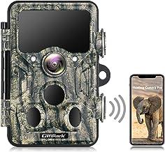 Campark WiFi Bluetooth Trail Game Camera 20MP 1296P Jachtcamera met 940nm Geen Glow IR LEDs Nachtzicht IP66 Waterdicht, vo...