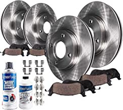 Detroit Axle - All (4) Front 262mm and Rear Disc Brake Rotors w/Ceramic Pads w/Hardware & Brake Cleaner & Fluid for 1994 1995 1996 1997 1998 1999 2000 2001 Acura Integra (NOT-Type-R)
