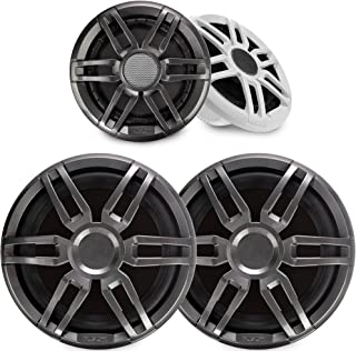 """$659 » Sponsored Ad - Fusion 1 Pair XS-F77SPGW XS Series 7.7"""" Marine Speakers with 2 Fusion XS-S10SPGW 10"""" Marine Subwoofers"""