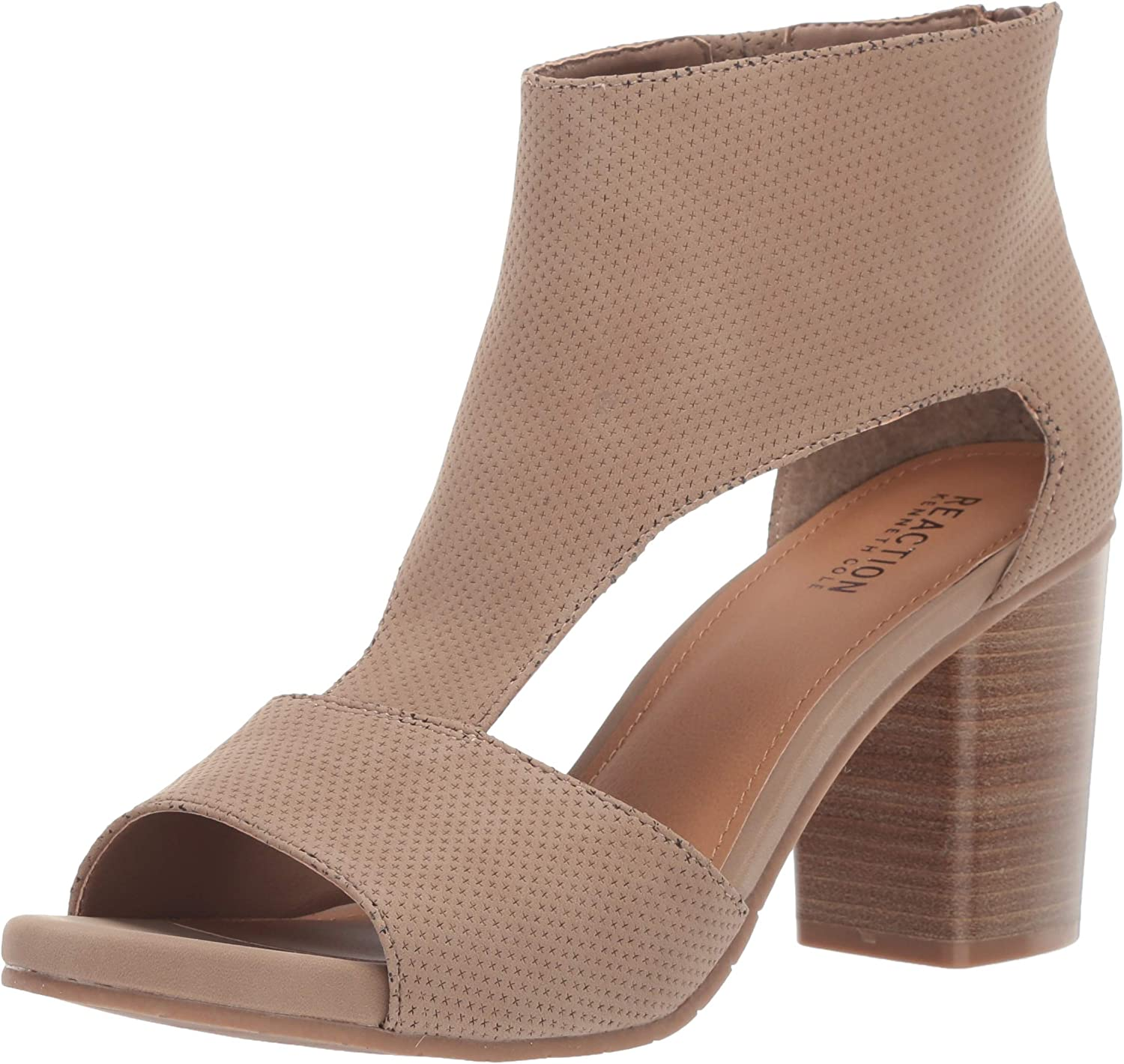 Kenneth Cole REACTION Womens Hit T-Strap Heeled Bootie Ankle Boot
