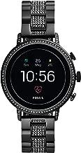 Fossil Women's Gen 4 Venture HR Heart Rate Stainless Steel Touchscreen Smartwatch, Color: Black (FTW6023)