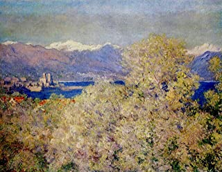Artisoo Antibes - View of the Salis Gardens - Size: 30 x 23 inches - Impressionism Oil painting reproduction - Claude Monet