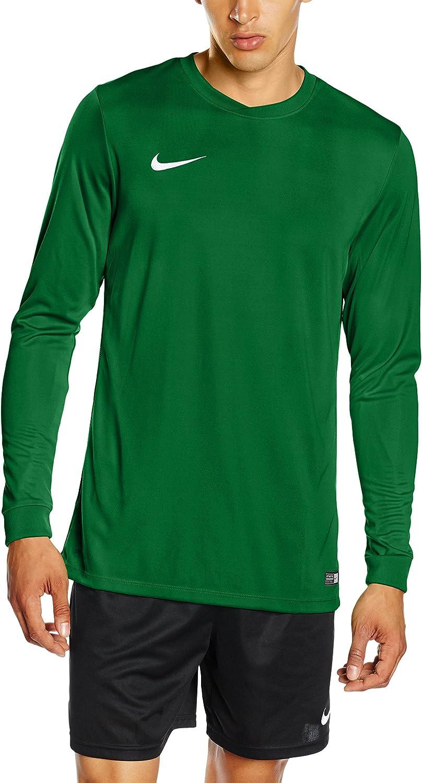 Nike Men Park VI Long Sleeve Jersey  Pine Green White, XLarge