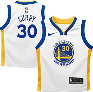 Nike Stephen Curry Golden State Warriors NBA Kids 4-7 White Home Association Edition Player Jersey