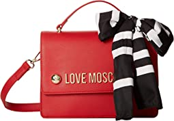 Crossbody Bag with Love Moschino Scarf