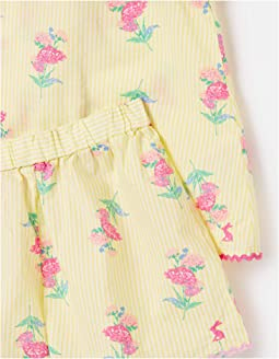 Yellow Stripe Floral