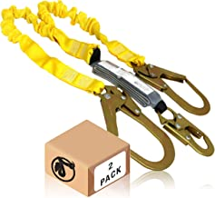 KwikSafety (Charlotte, NC) Python 2 Pack (External Shock Absorber) Double Leg 6ft Safety Lanyard OSHA ANSI Fall Protection...