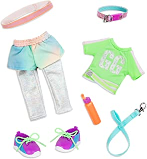 Glitter Girls Dolls by Battat – Let's Go for a Run Dog Walking Outfit with Leash, Collar, and Hair Band – 14-inch Doll Clo...