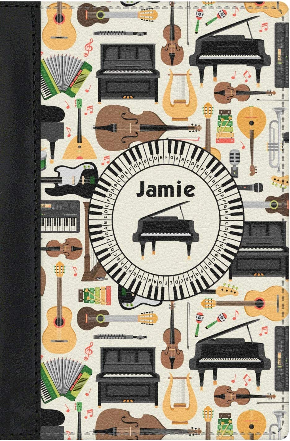 Musical Topics on TV Instruments Genuine Leather safety Personalized Cover Passport
