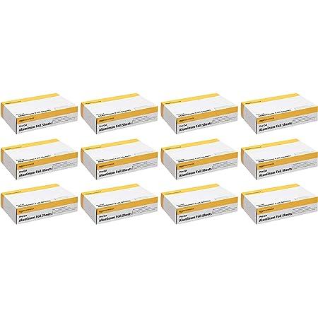 "AmazonCommercial Pre-Cut Aluminum Foil Sheets, 9"" X 10-3/4"", 12 Boxes of 200 Sheets (2,400 Sheets per Pack)"