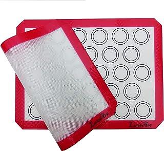 LuxéArt Tapis de Cuisson en Silicone 2 Pièces sans BPA Anti-Adhérent (40 * 30cm), spéciale pâtisserie et Cuisine Parfait p...