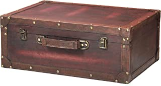 vintage style leather suitcase