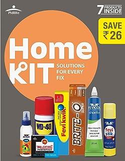 Pidilite Home Improvement Kit Containing 7 Solutions - Shoefix, M-Seal, Fevikwik, BriteO, Fevistik, Fevicol MR and WD 40