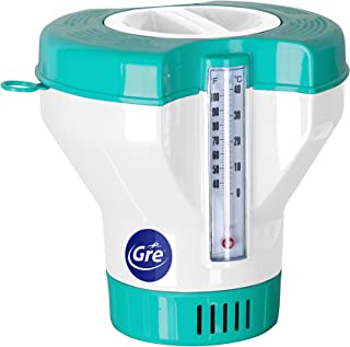 Gre 40070 - Dosificador Flotante con Termometro para Piscinas- para Pastillas de 20 a 500 g