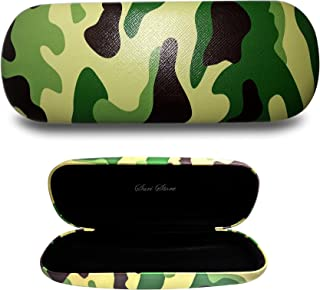 Eyeglasses Hard Case Camo Plaid Printed Clamshell Cover Protective Holder